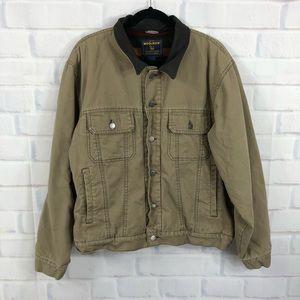 Woolrich Work Wear Cotton Jacket Dark Wheat